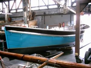 Sloep in de botenloods juni 2007