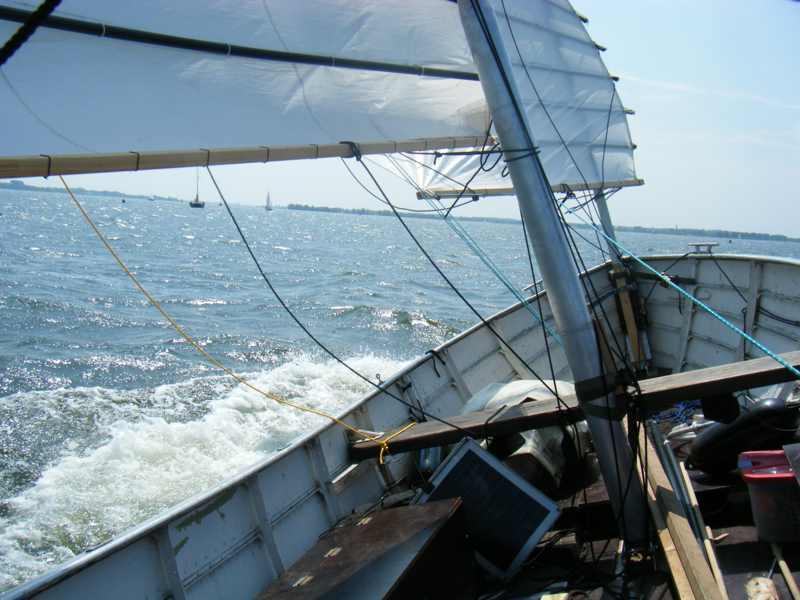 ZeeFier aan de wind bij Harderwijk