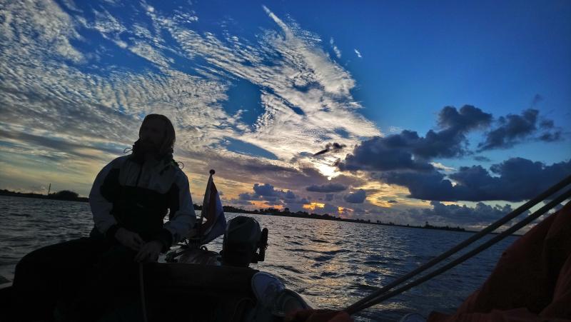 Zonsondergang op het Lauwersmeer